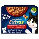 Felix Sensations Extras Cat Food Meaty