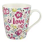 Cath Kidston Pretty Pansies Stanley Mug, White