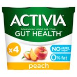 Activia 0% Fat Peach Yogurts