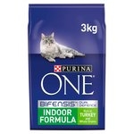 Purina One Adult Indoor Formula Rich in Turkey & Whole Grains