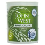 John West Tuna Chunks Springwater Pole & Line