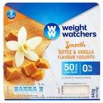 Weight Watchers Toffee & Vanilla Flavour Yogurts