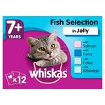 Whiskas 7+ Cat Pouches Fish in Jelly