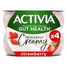Activia Intensely Creamy Sumptuous Strawberry Yogurts
