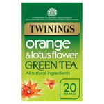 Twinings Orange & Lotus Green Tea