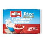 Muller Rice Strawberry & Original Multipack Low Fat Dessert