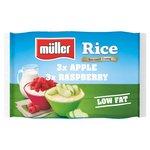 Muller Rice Raspberry & Apple Multipack Low Fat Dessert