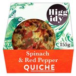 Higgidy Little Quiche Spinach, Red Pepper & Feta