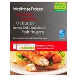 Waitrose 6 Breaded Haddock Fingers