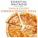 Cheese & Tomato Pizza Frozen essential Waitrose