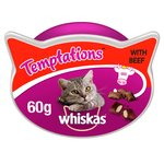 Whiskas Temptations Cat Treats with Beef