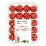 20 British Beef Meatballs essential Waitrose