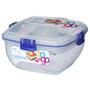 Sistema Plastic Salad To Go Container 1.1L, Blue