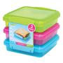 Sistema Plastic Sandwich Boxes 450ml, Assorted Colours