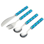 Miniamo 4 Piece Cutlery Set, Blue