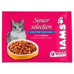 Iams Senior Wet Cat Food Gravy Chicken