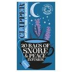 Clipper Snore & Peace Organic Chamomile, Lemon Balm & Lavender Infusion