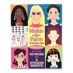 Melissa & Doug Make-A-Face Sticker Pad 3+