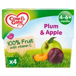 Cow & Gate Plum & Apple Fruit Pots