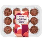 Ocado Gold 12 Beef Meatballs Italian Style