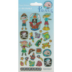 Pirate Reusable Foil Stickers 3+