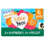 Yeo Valley Little Yeos Raspberry & Apricot Fromage Frais