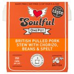 Soulful British Pulled Pork Stew with Chorizo, Beans & Spelt
